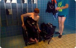 Tauchen mit Handicap